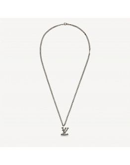 Louis Vuitton Wood Necklace Aged Silver in Aged Silver with Aged Silver-tone