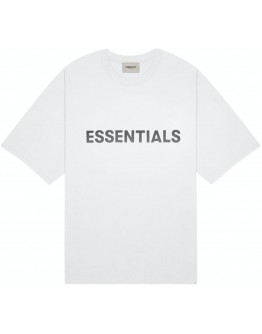 """Fear Of God Essentials 3D Silicon Applique Tee """"Heather Oatmeal"""""""