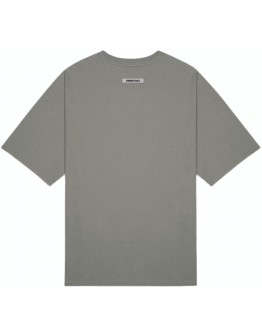 """Fear Of God Essentials 3D Silicon Applique Tee """"Grey Flannel / Charcoal"""""""