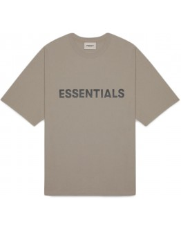 """Fear Of God Essentials 3D Silicon Applique Tee """"Taupe"""""""