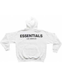 """Fear Of God Essentials Los Angeles 3M Boxy Hoodie """"White"""""""
