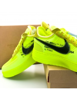 """Nike x Off-White Air Force 1 Low """"Volt"""""""