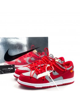 """Nike x Off-White Dunk Low """"University Red"""""""