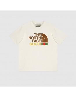 """Gucci X The North Face Oversized T-shirt """"Beige"""""""